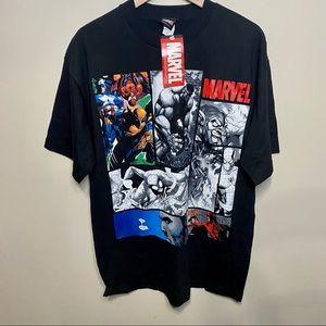 NWT Marvel Comics Black T-Shirt Large